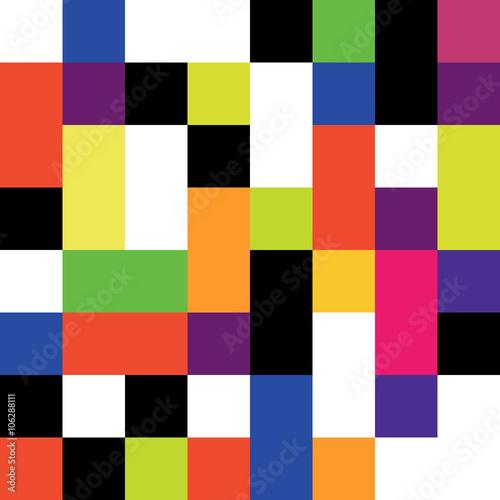Naklejka retro_colored_squares_pattern_seamless [Converted]