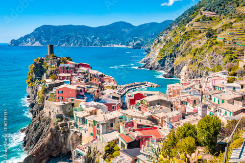 Colorful of Vernazza Village in Cinque Terre, Italy