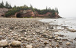 sea caves at low tide in  St.Martins in New Brunswick Canada