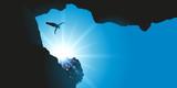 Plongeon de haut vol - falaise - 106301942