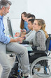 Teacher with studants, one disabled