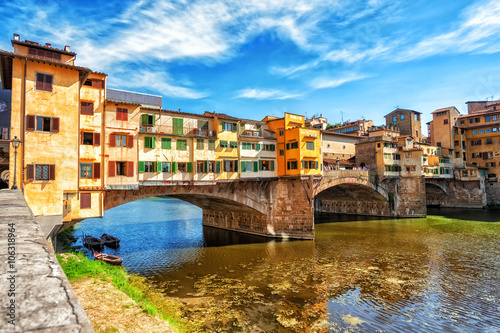 Fotobehang Florence The Ponte Vecchio, Florence, Italy