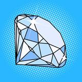 Fototapety Diamond gemstone pop art style vector