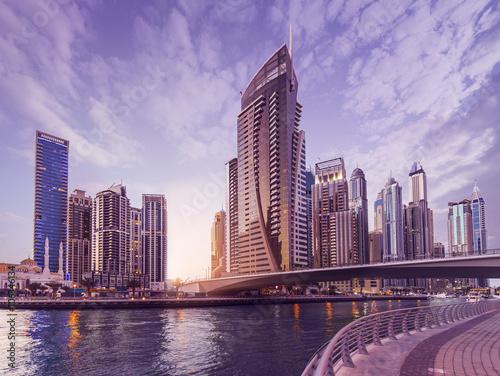 Poster Dubai Marina Skyline