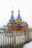 Wooden church in Siberian village