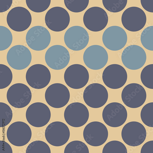 Fototapeta Vector modern seamless colorful geometry dots pattern, color abstract geometric background, pillow multicolored print, retro texture, hipster fashion design