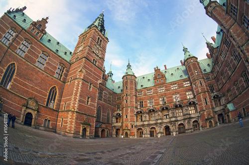 Póster Castillo de Frederiksborg en Hillerod, cerca de Copenhague, Dinamarca