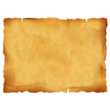 Fototapety Old parchment isolated on white background