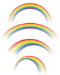 Illustration of Rainbows in Different Shapes
