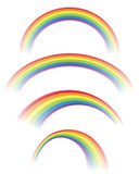 Illustration of Rainbows in Different Shapes - 106415722