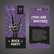Rock party invitation