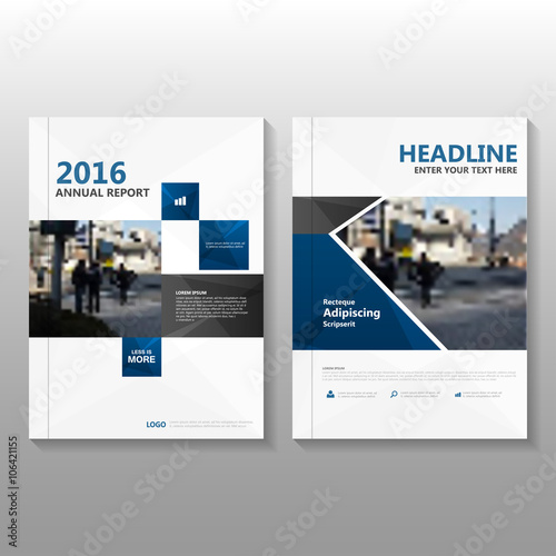 blue vector business proposal annual leaflet brochure flyer template
