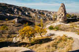 Uchisar town in Cappadocia. Turkey - 106423364
