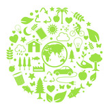 Environment icon in circle