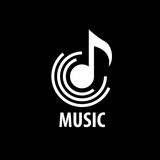 Fototapety vector logo music