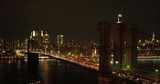 New york, south Manhattan, night, winter,close to Brooklyn bridge