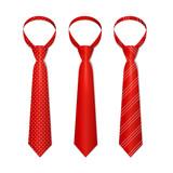 Tie Set. Vector