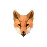 Fototapety Fox polygon illustrations modern logos design animal sign brand top quality style