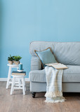 blue room and armchair