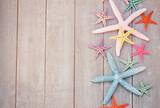 starfish on wooden board