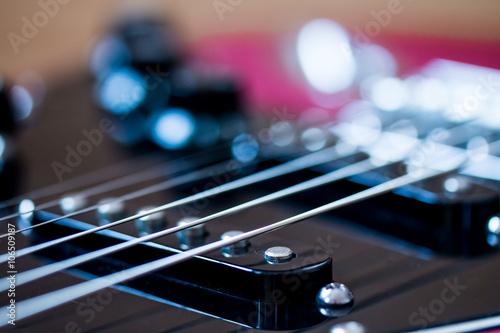 Poster E-Gitarre Technik nah, Tonabnehmer (single coil / pickup)