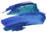 Fototapety Abstract watercolor brush strokes painted background.