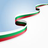Bulgarian flag background. Vector illustration.
