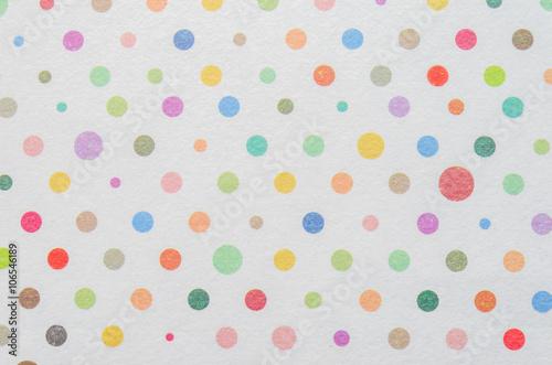 Fototapeta White paper with colorful dot pattern