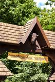 gate of Bialowieski national park, Podlaskie Voivodeship, Poland - 106552957