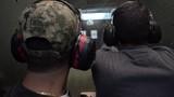 shooting targets with gun
