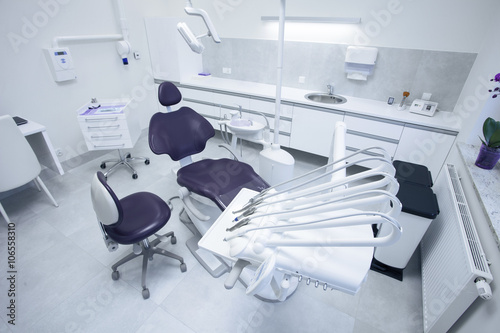 Poster Moderne Zahnarztpraxis.