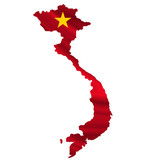 ベトナム  国旗 地図 アイコン