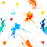 Seamless pattern - colorful blots. Splash paint - 106581107