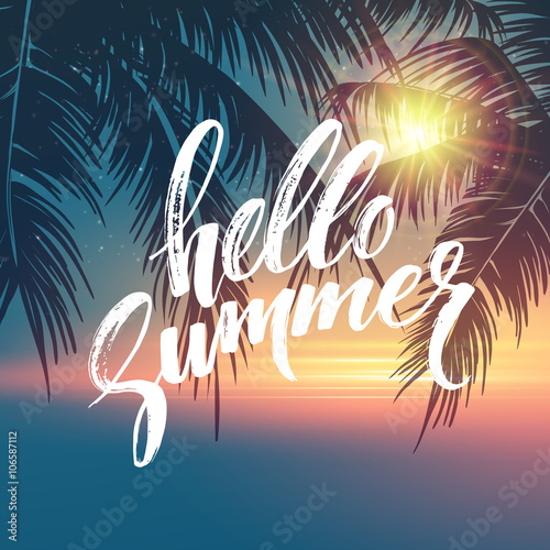 Poster, Tablou Hello summer  background
