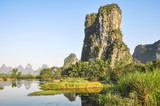 Scenic rocks and river in southern China