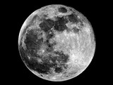 Full Moon phase. Taken by telescope.