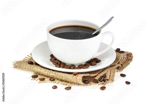 Papiers peints Café en grains cup of coffee isolated