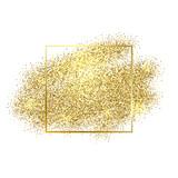 Fototapety Gold sparkles on white background. Gold glitter background.