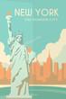 Art Deco poster. New York.