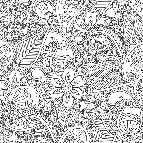 kolorowanki-dla-doroslych-seamles-henna-mehndi-doodles-streszczenie-kwiatowe-elementy