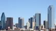 Downtown Dallas Texas cityscape view