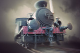 Vintage steam locomotive - 106639348