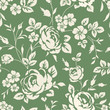 Seamless wallpaper with blooming flowers