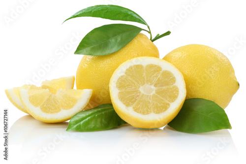 Poster Zitrone Zitronen Früchte Freisteller freigestellt isoliert