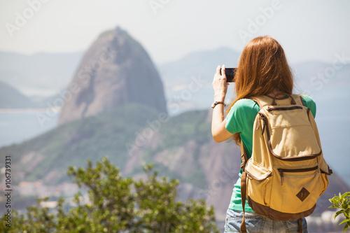 Poster girl at the Rio de Janeiro