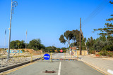 Road leading from Greek part to UN buffer zone, Cyprus