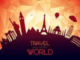 Fototapety Travel around the world