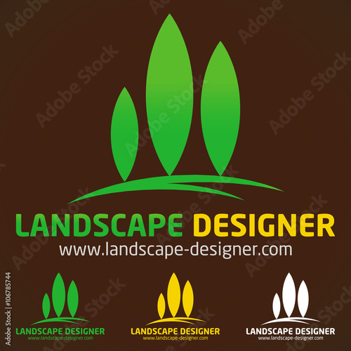 Logo paysagiste jardinier stock image and royalty free for Paysagiste logo