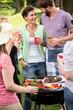 Obrazy na płótnie, fototapety, zdjęcia, fotoobrazy drukowane : Laughing at the barbecue party