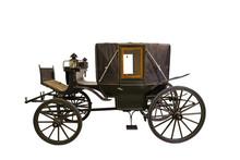 Smart Black Historic Carriage   Sticker